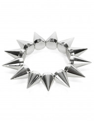 Bracelet punk argenté