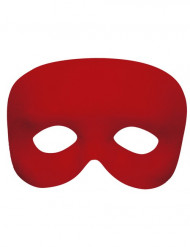 Demi-masque rouge adulte