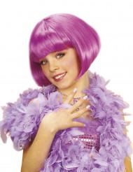 Perruque courte cabaret violette fille