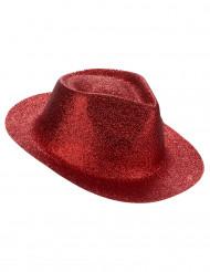 Chapeau pailletté rouge adulte