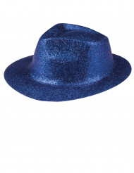 Chapeau pailletté bleu adulte