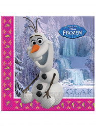 20 Serviettes en papier Olaf La Reine des Neiges™ 33 x 33 cm