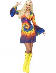Déguisement hippie multicolore femme