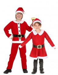 Déguisement de couple de Père et Mère Noël enfant