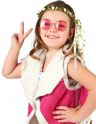 Couronne fleurs blanches crème enfant
