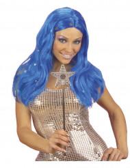 Perruque bleue étoilée femme