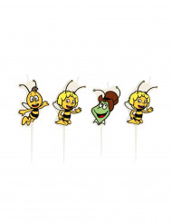4 Petites bougies Maya l'abeille™
