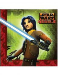 20 Serviettes en papier Star Wars Rebels™ 33 x 33 cm
