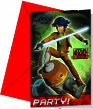 6 Cartes d'invitation Star Wars Rebels™