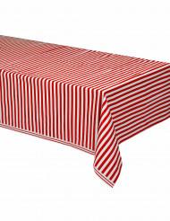 Nappe plastique rayée rouge et blanc 137 x 274 cm