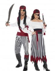 Déguisement de couple pirate rayés