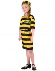 Déguisement prisonnier jaune fille