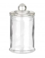 Petite bonbonnière confiseur en verre 9 x 5.6 cm