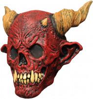 Masque squelette de la mort rouge