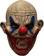Masque 3/4 clown avec dentier