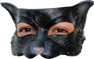 Demi-masque chat noir