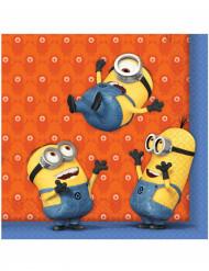20 Serviettes en papier Minions ™ 33 x 33 cm