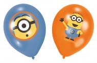 6 Ballons en latex Minions ™ Moi moche et méchant™