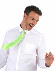Cravate verte fluo adulte