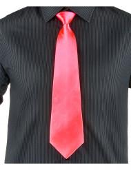 Cravate saumon fluo adulte
