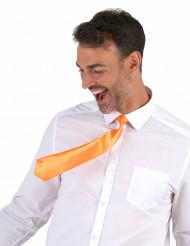 Cravate orange fluo adulte