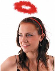 Serre tête auréole d'ange rouge adulte
