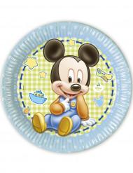 8 Assiettes carton Bébé Mickey™ 23 cm