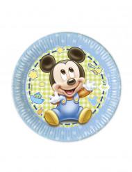 8 Petites assiettes Bébé Mickey ™ 20 cm