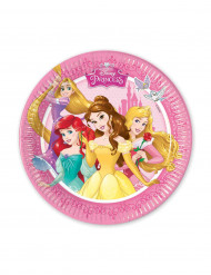 8 Petites assiettes en carton Princesses Disney ™ 20 cm