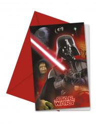 6 Cartes invitations Star Wars™