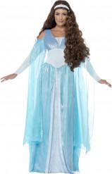 Déguisement princesse médiévale bleue femme