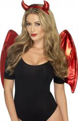 Kit démon rouge femme Halloween