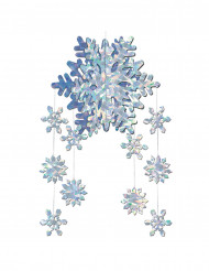 Décoration à suspendre Flocons de neige prismatiques 3-D