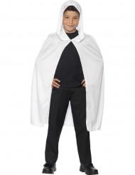 Cape à capuche blanche enfant Halloween
