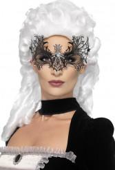 Masque toile araignée avec strass adulte Halloween