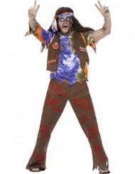 Déguisement zombie hippie homme Halloween