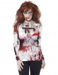 T-shirt zombie sexy femme Halloween
