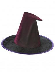 Chapeau toile araignée violet femme Halloween