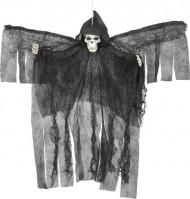 Décoration à suspendre ange noir squelettique Halloween