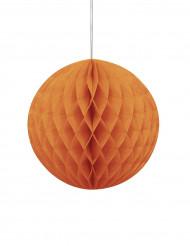 Boule en papier alvéolé Orange Halloween