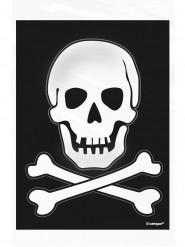 50 Sacs en papier Tête de mort Halloween