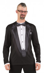 T-shirt costume gala noir adulte