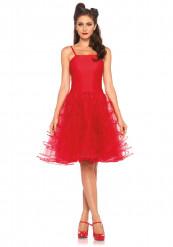 Déguisement robe rouge années 50 femme