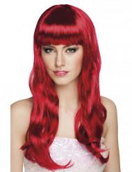Perruque longue rouge foncée femme