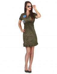 Déguisement Luxe robe Top Gun™ avec lunettes adulte