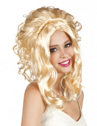 Perruque cowgirl blonde femme