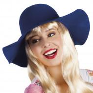 Chapeau estival bleu foncé femme