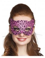 Masque léopard rose femme