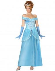 Déguisement princesse bleu femme