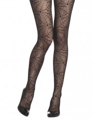 Collants toiles d'araignée femme Halloween